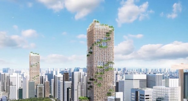 timber-tower-tokyo-japan  Timber towers sprout amid concern for the environment timber tower tokyo japan