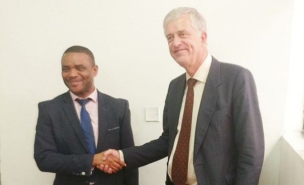 Robert Petri and Marvin Dekil  Netherlands urges Nigeria to expedite action on Ogoni cleanup Dekil Petri