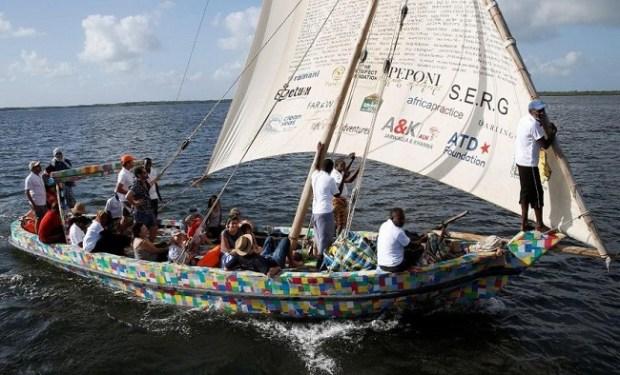 Flipflopi  UN lauds Kenya for building boat from plastic waste Boat