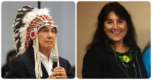 Grand Chief Wilton Littlechild and Andrea Carmen