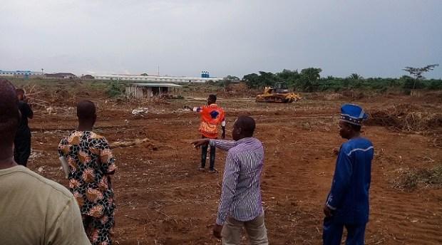 Igbesa farmland destruction by Chinese