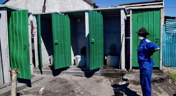 Toilet sanitation worker