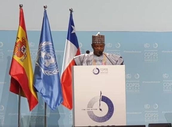 Abubakar COP25  COP25: Nigeria endorses pact to transfer mitigation outcomes in Africa Abubakar COP25
