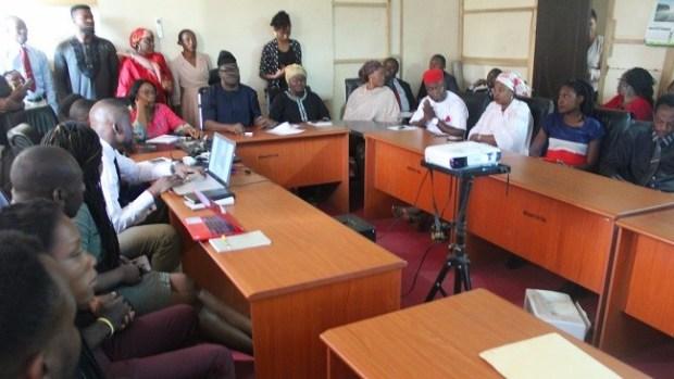 NBMA  Coronavirus: Biosafety agency charges staffers on awareness raising IMG 7845