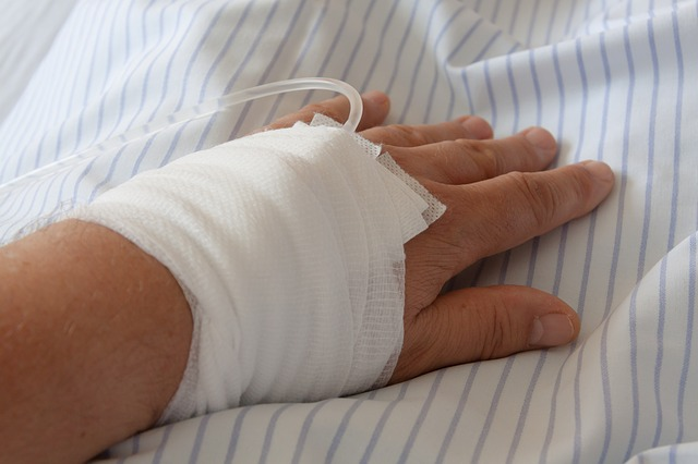 Patients had wrapped in gauze with a tube