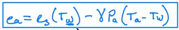 Wet Bulb Temperature Equation