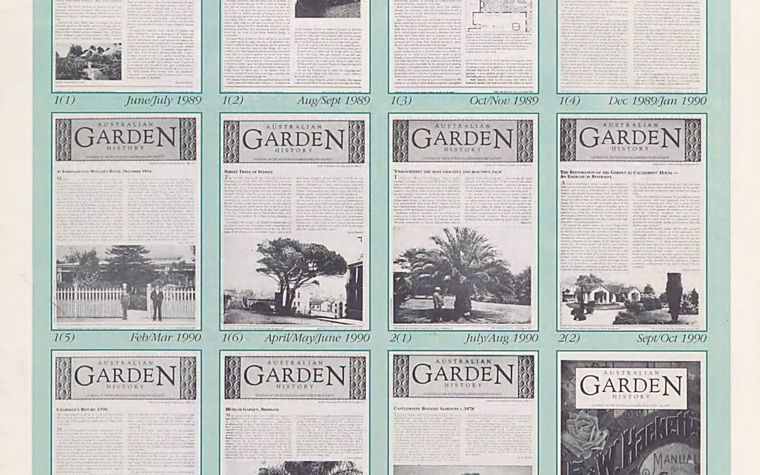 Newly-digitised source: Australian Garden History