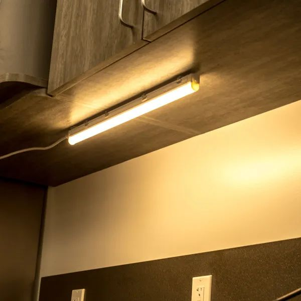 e lite led dimmable under cabinet light bar with diffuser 55 leds 2 foot warm white