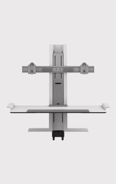 Humanscale Sit/Stand Keyboard Tray and Double Monitor Arm
