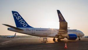 The CS100 is a narrow-body, twin-engine, medium-range jet airliner.