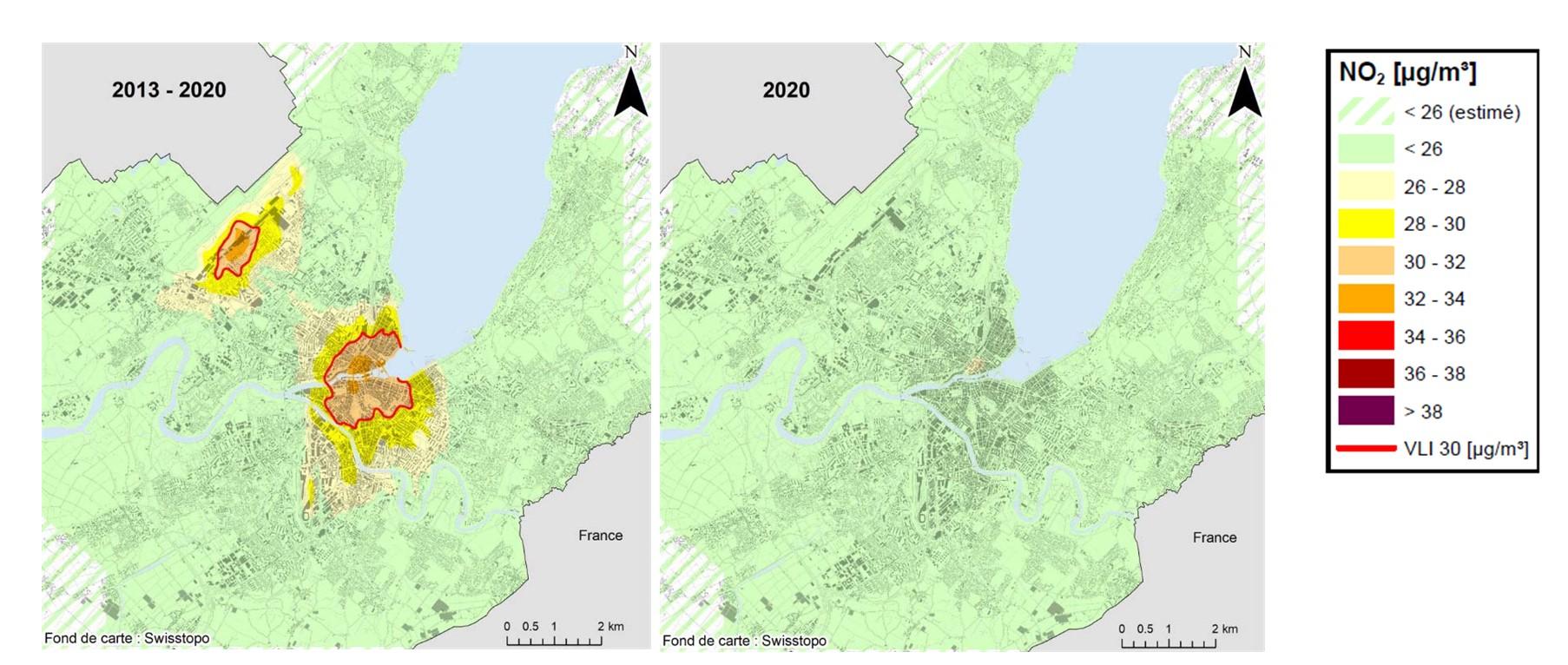 Genève: la qualité de l'air s'est améliorée en 2020