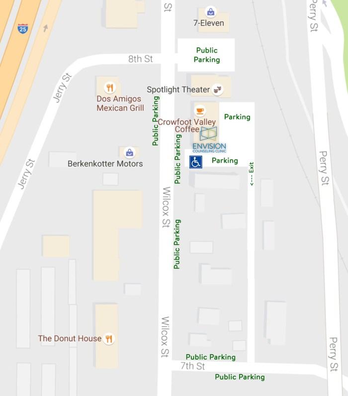 734 Wilcox Parking Map