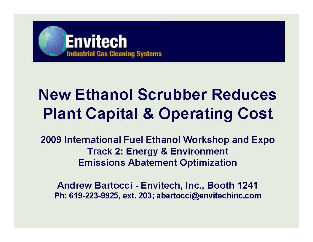 Download Ethanol Scrubber Literature