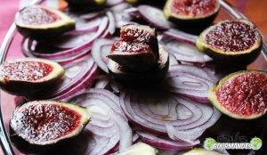 Chou rouge-betterave-oignon rouge-figues-raisins-moutarde