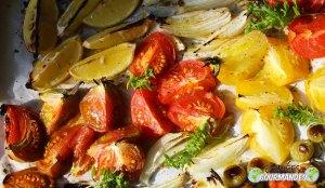 Tomates-huile d'olive-basilic