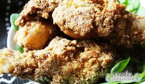 Mieux qu'au KFC, mes pilons de poulet au Gari, citron, Better than KFC, my drumsticks in Gari, citron, aromatics and spices and spices