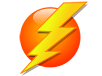 lightening colour icon