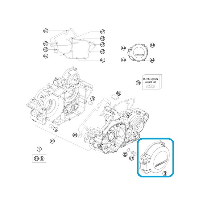 Tapa Encendido KTM EXC/SX 125/200 01-12