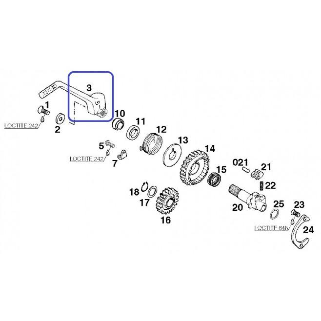 Pedal Arranque KTM EXC 250/300 98-03 EXC 380 98-02 SX 250