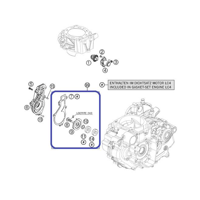 Kit Reparación Bomba Agua KTM 690 Enduro R 09-18