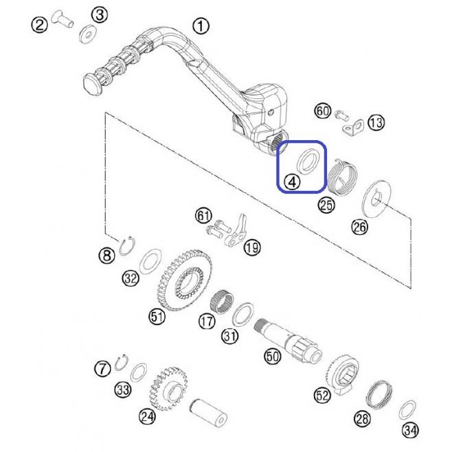 Retén Pedal Arranque 19X30X7 KTM EXC 250/300 99-06 SX 50