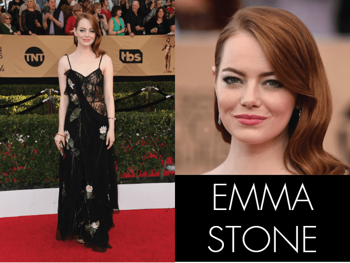 SAG AWARDS MISS UNIVERSE, best in beauty, red carpet, screen actors guild, awards, emma stone