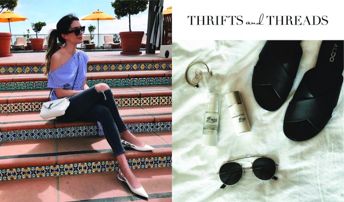 Thrifts and Threads Brittany White Flats