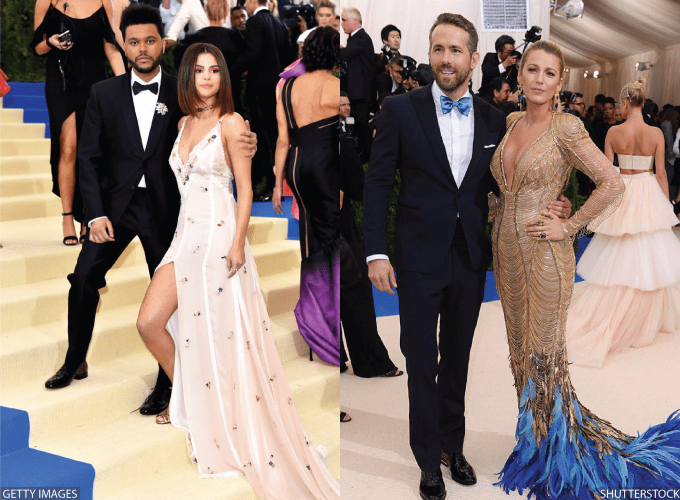 Met Gala 2017, Chic Couples, The Weeknd, Selena Gomez, Ryan Reynolds, Blake Lively