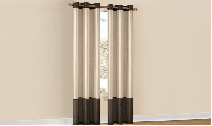 Groupon TWO Two Tone Faux Silk Grommet Panels 1699 SHIPPED Ends 102213 Enzas Bargains