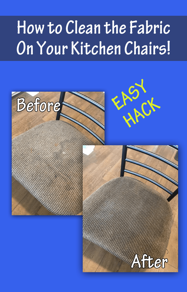 How to Clean Fabric on Kitchen Chairs with Johnsons Baby Hack  Enzas Bargains