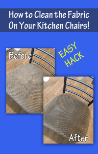 How to Clean Fabric on Kitchen Chairs with Johnson's Baby ...