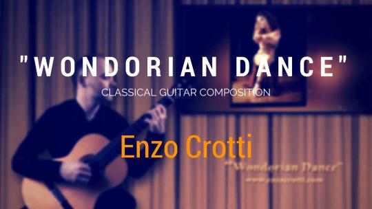 """New Classical Guitar video: """"Wondorian Dance"""""""