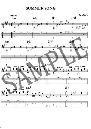 sample classical guitar tab 1