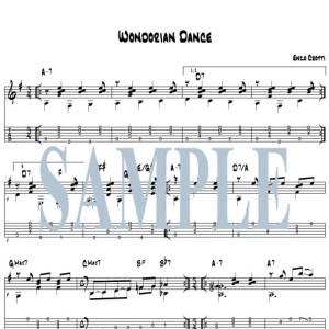 Wondorian Dance guitar score and tab