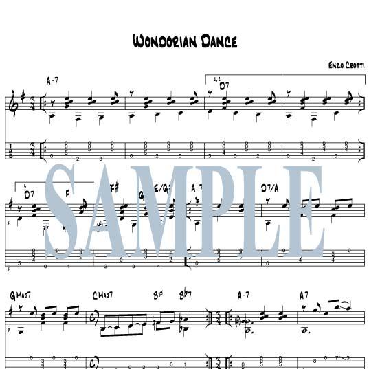 "Guitar Sheet Music And Tab: ""Wondorian Dance"""