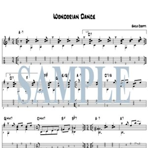 Wondorian Dance guitar score and tab