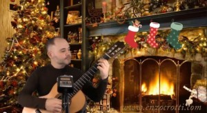 """Jingle Bells"", new video with classical guitar and voice"