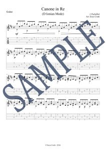 Pachelbel Canon Guitar Score Sample