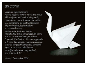 poesia sul cigno