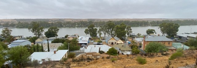 View of Mannum and the River Murray from above the town