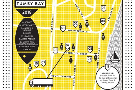 map of the Tumby Bay steet art
