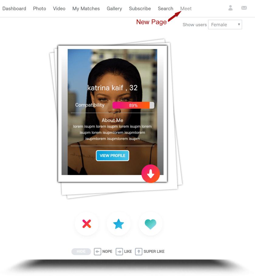 Tinder Swiping plugin for Skadate & Oxwall