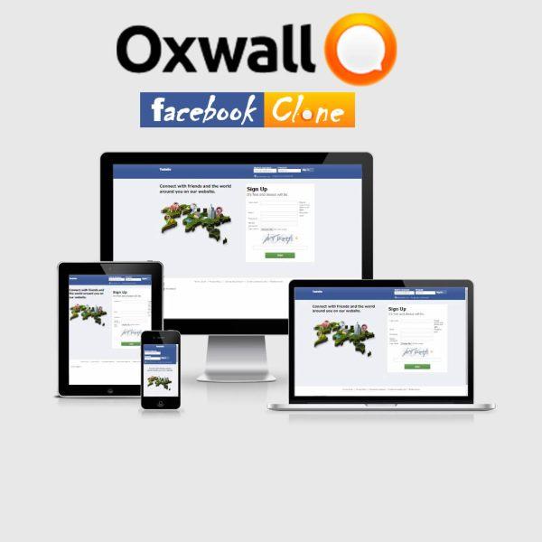 Ultimate Landing Page (Facebook Clone) – Oxwall Plugin