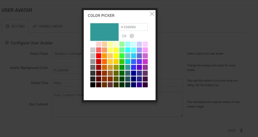 User Avatar Color Picker