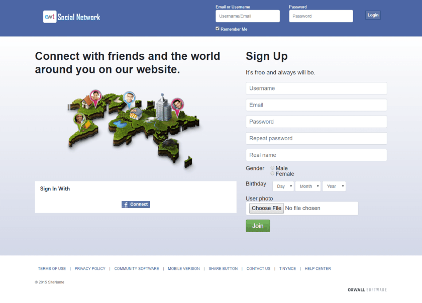 Join Page Demo