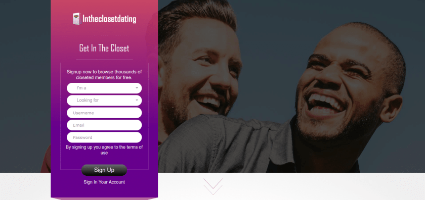 intheclosetdating.com based on   Skadate Dating Software