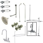 Elements Of Design Edk4181pl Gooseneck Clawfoot Tub Faucet Package 8 Inch Rough In Polished Chrome