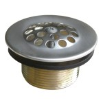 Elements Of Design Edtl208 Bathtub Strainer Drain With Rubber Brushed Nickel Elements Of Design