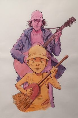 L'enfant qui deviendra guitariste - L'art de Naoki Urasawa - ÉOLE Paris