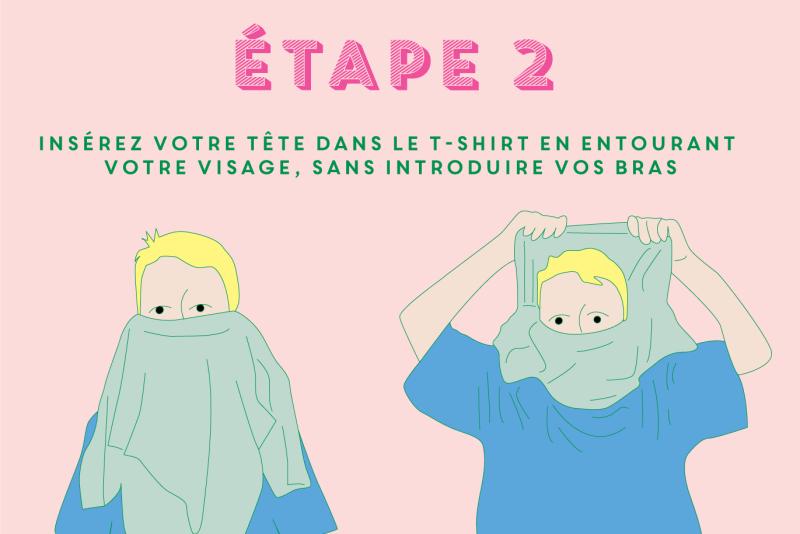 grand choix de 4db86 0b21e Comment Faire Un Masque de Ninja Avec Un T-Shirt ? - ÉOLE Paris